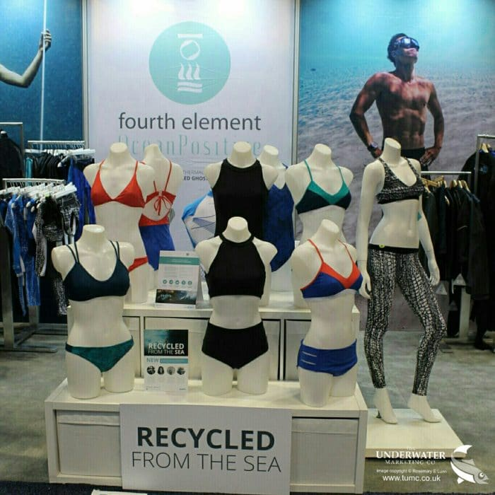 OceanPositive swimwear at DEMA.2017 | Image Credit: Rosemary E Lunn / The Underwater Marketing Company