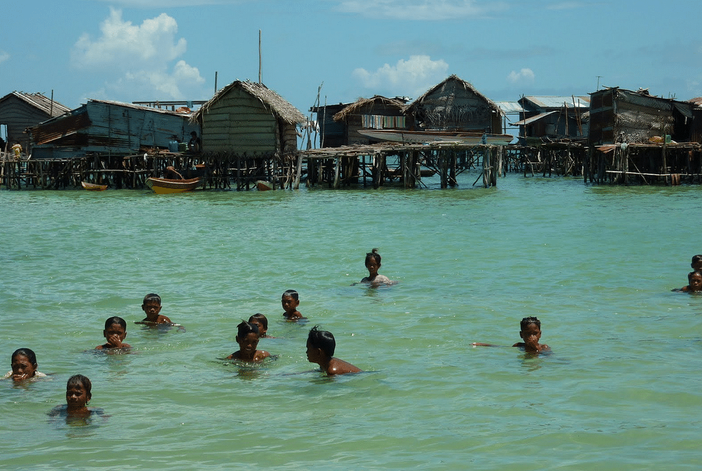 Children from the Bajau Tribe in Indonesia