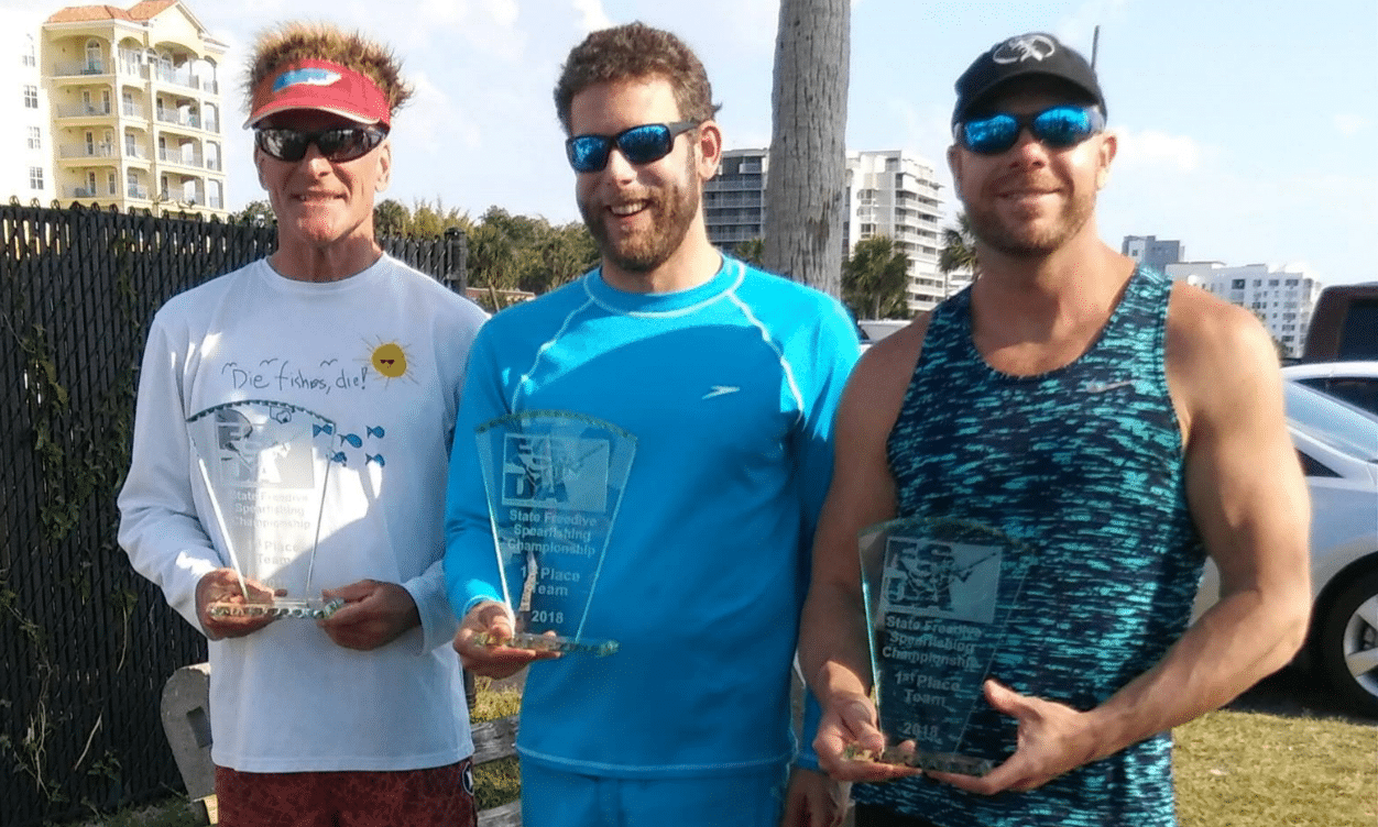 GR Tarr, Jason Wetmore and Ritchie Zacker nab Florida State Team Spearfishing Champions title