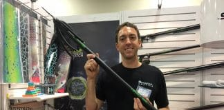 Maverick America's Mark Laboccetta with Salvimar's latest speargun, the Hero 95.