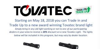 Trade In Your Dive Light For A Tovatec One