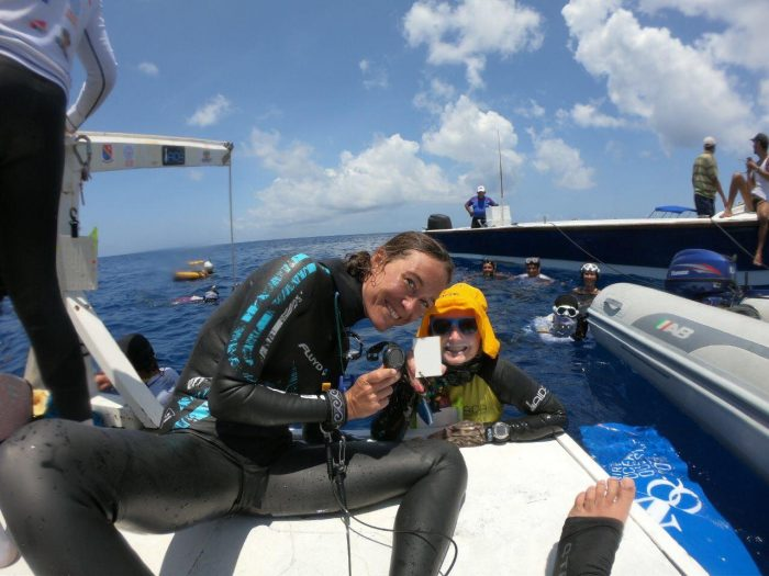 Alessia Zecchini Set News Constant Weight Freediving World Record