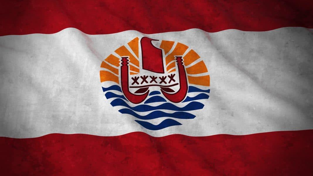 Grunge Flag of French Polynesia