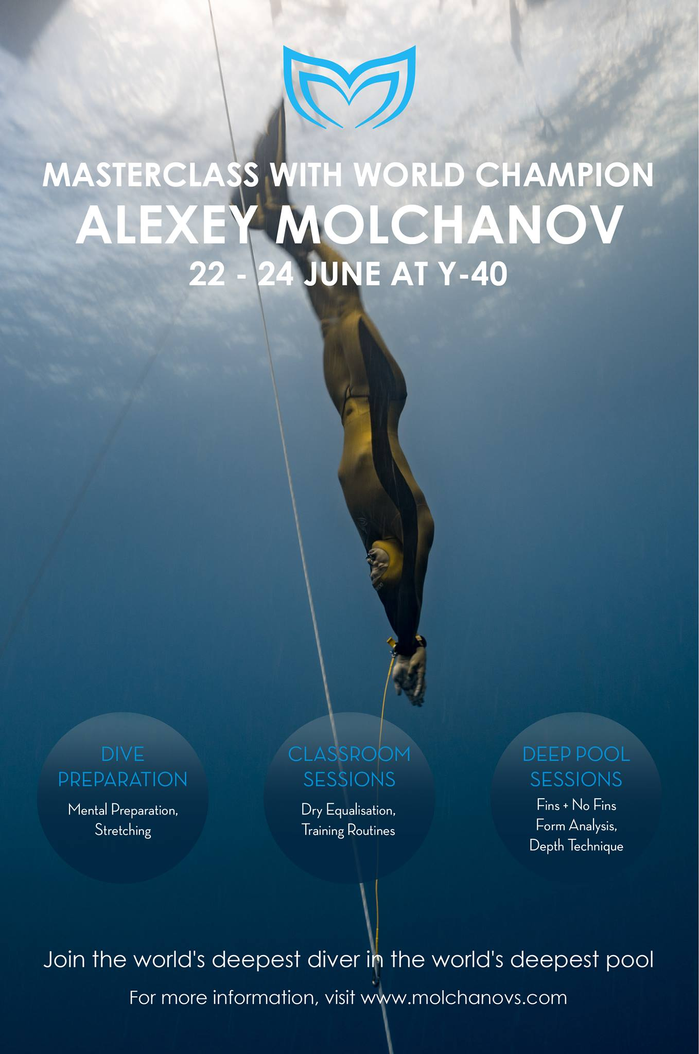 Alexey Molchanov? To Hold Freediving Masterclass At Y-40 Pool In Italy