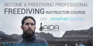 Jonathan Sunnex Offering Freediving Instructor Courses