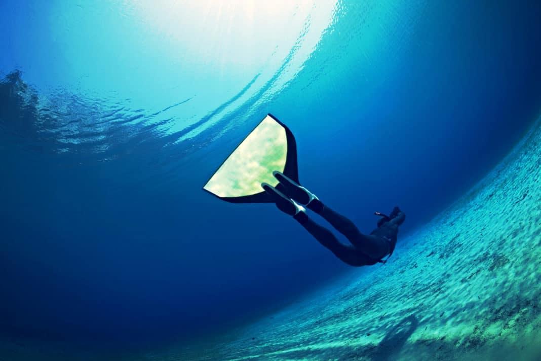 Monofin Underwater. Photo by The Freediving Club. https://flic.kr/p/s1Rhnz