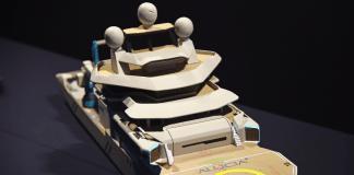 Model of OceanX's M/V Alucia2