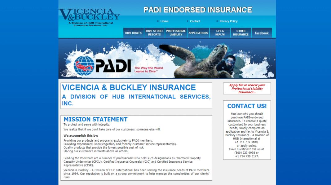 2018-2019 PADI Americas Insurance Programs Announced
