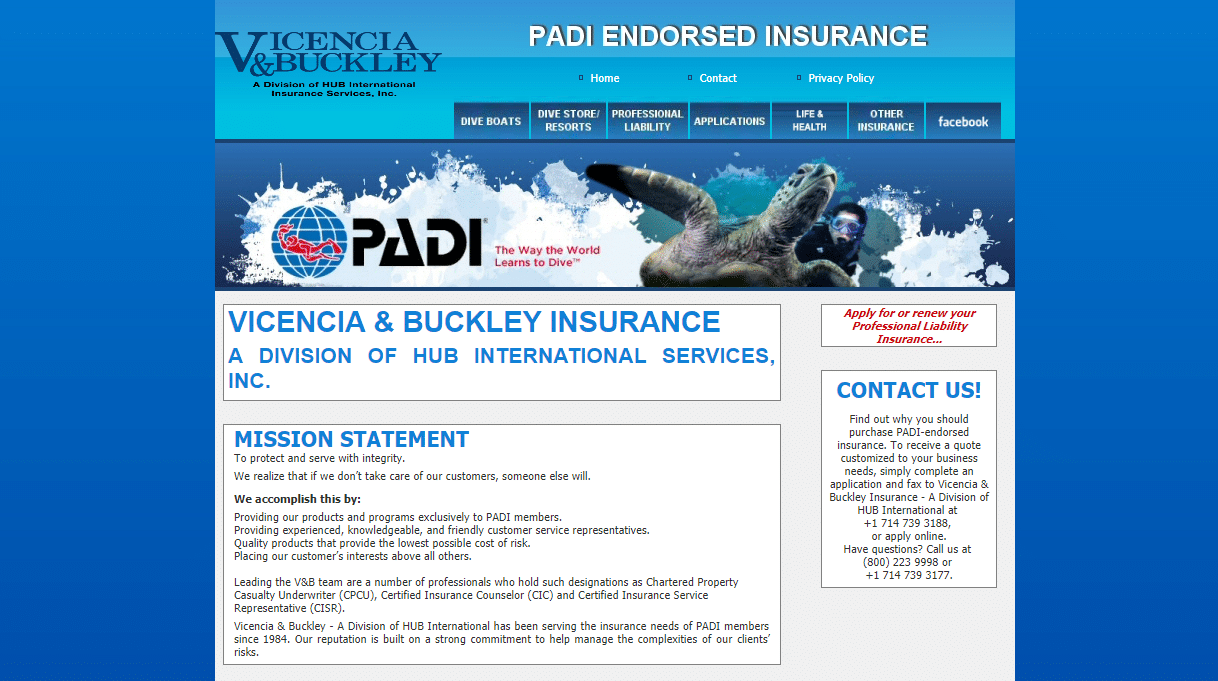 2018-2019 PADI Americas Insurance Programs Announced