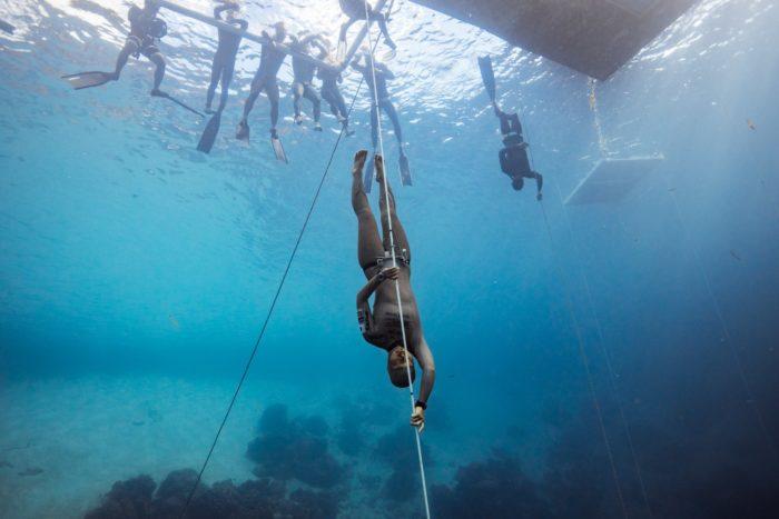 Sayuri Kinoshita competing at OriginECN Vertical Blue. Photo by Alex St Jean.
