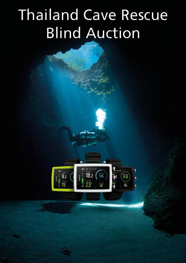 Suunto Diving UK is running a blind auction to raise money for the British Cave Rescue Council