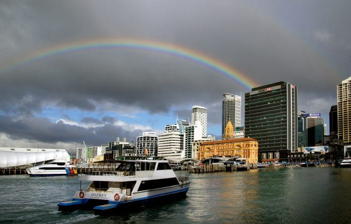 Auckland Waterfront photograph by Bernard Spragg. public domain