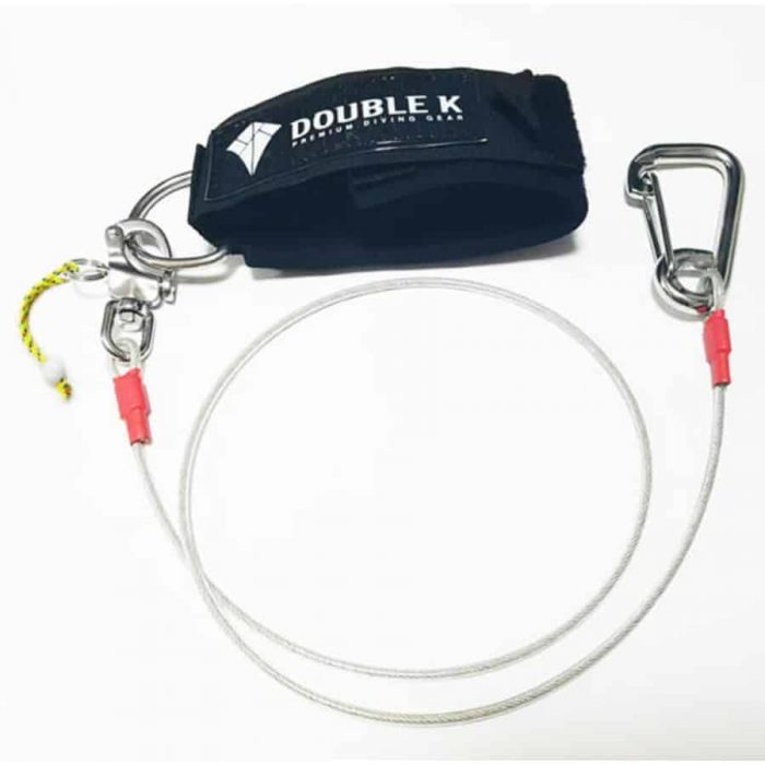 Double K freediving lanyard with snap release