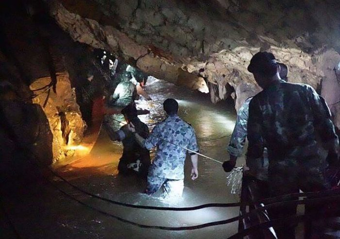 Thailand Military are involved in trying to rescue the boys