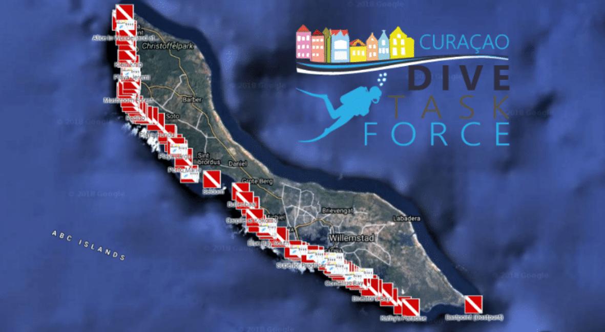 Curaçao Dive Task Force Announces Interactive Dive Site Map