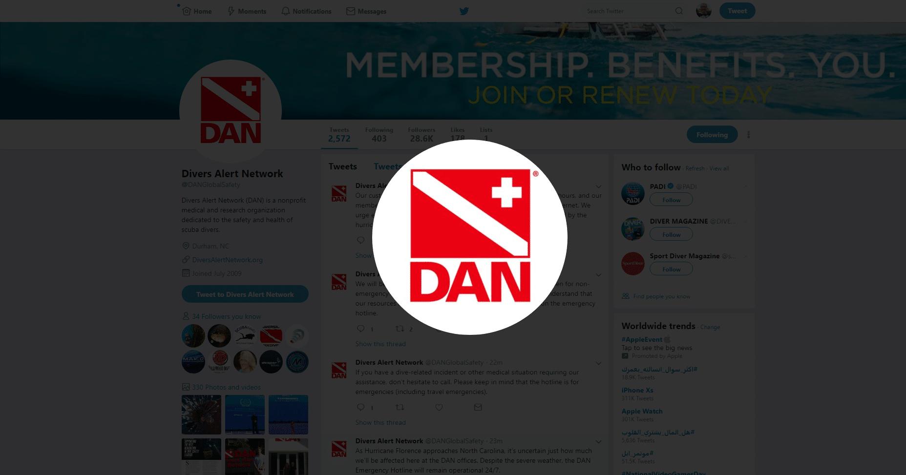 Despite Hurricane, DAN Emergency Hotline Will Be Operational 24/7