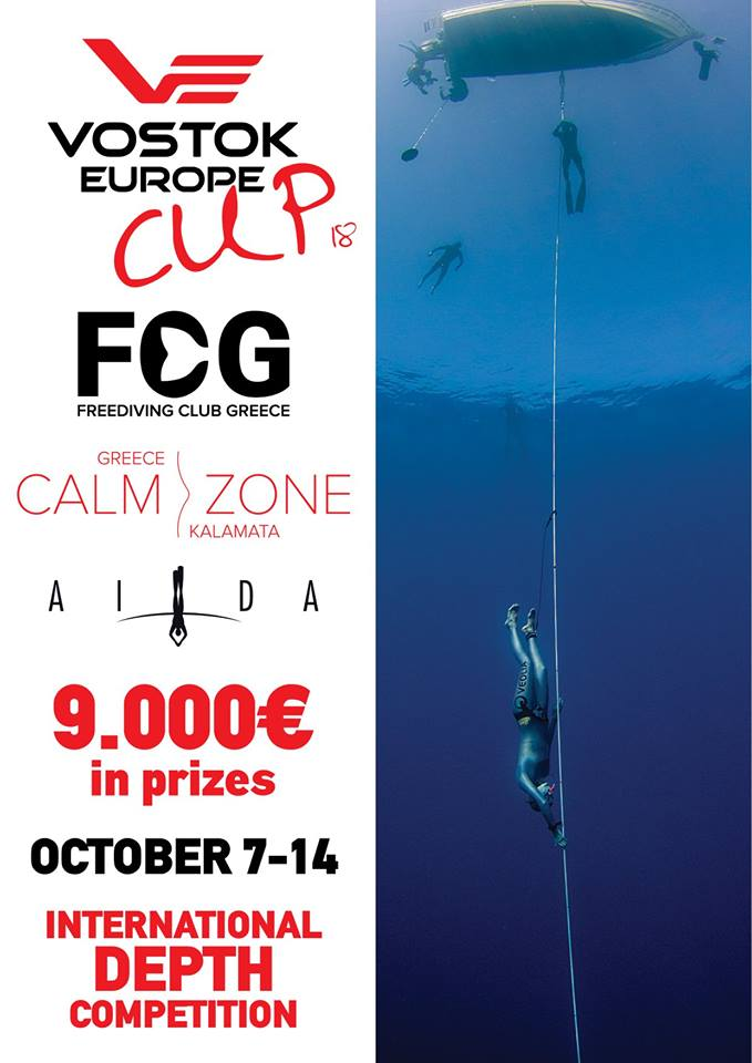 Vostok Europe Freediving Cup To Take Place In Kalamata, Greece
