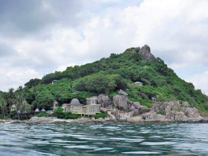 View of Ko Tao from the dive site.