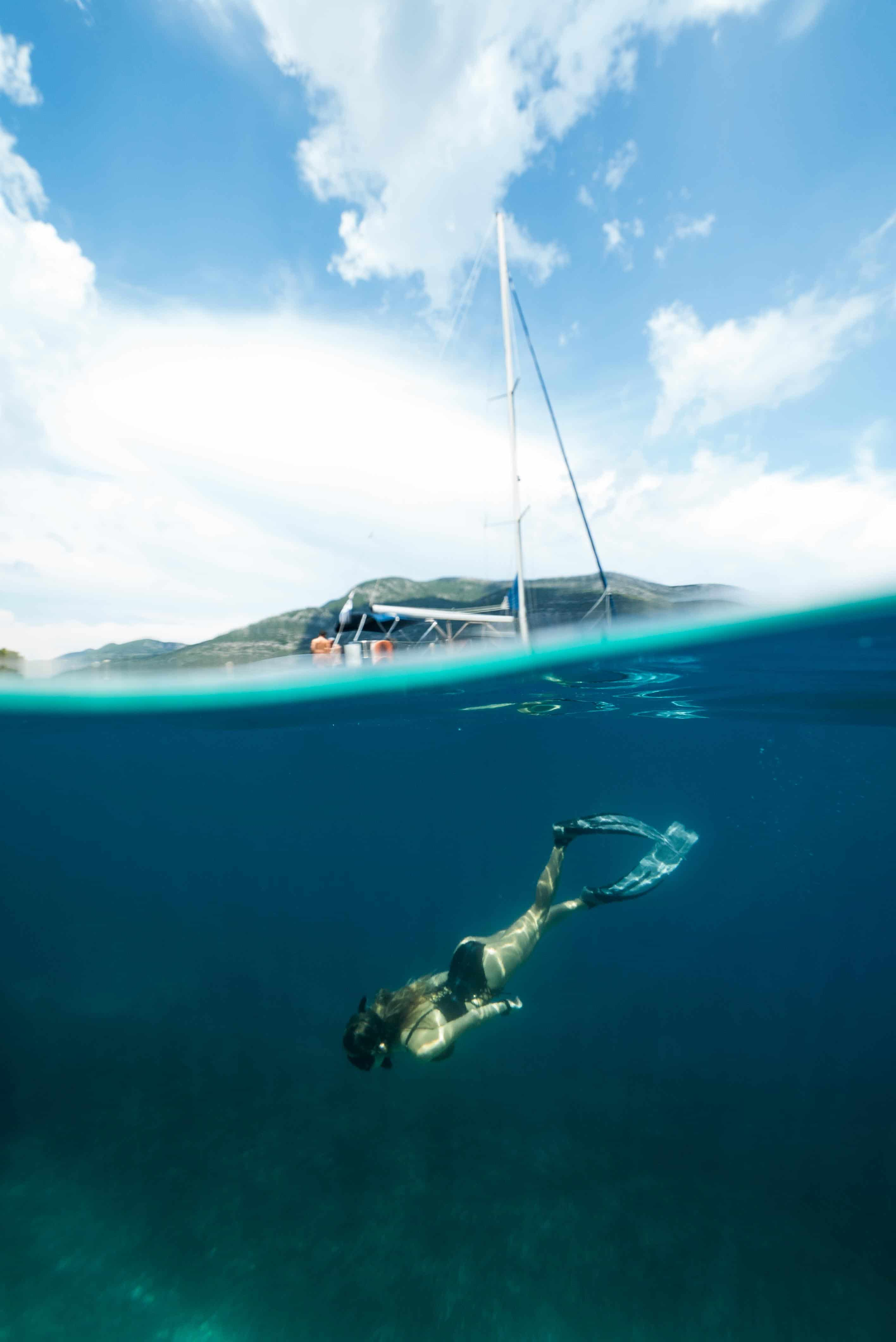 Check Out Sailing And Freediving Off The Greek Coast