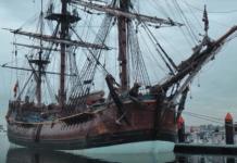 Replica of Captain Cook's ship HMS Endeavour