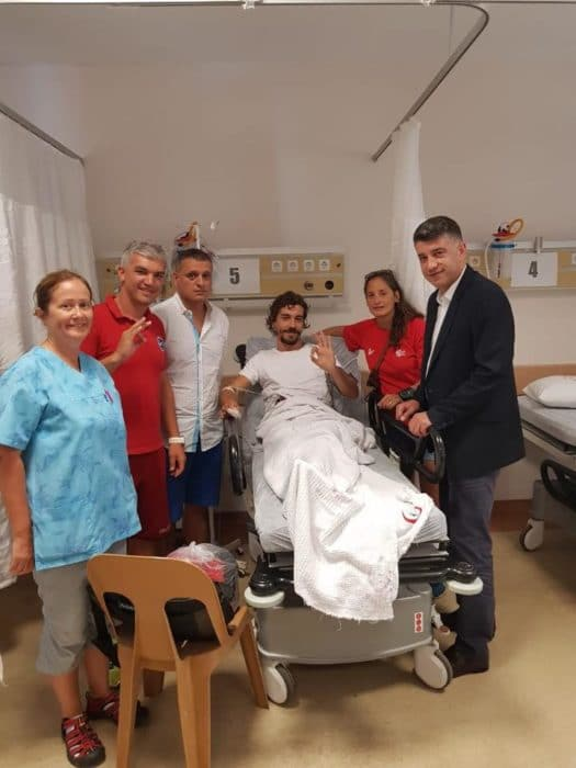Ramon Carreno Paz in hospital