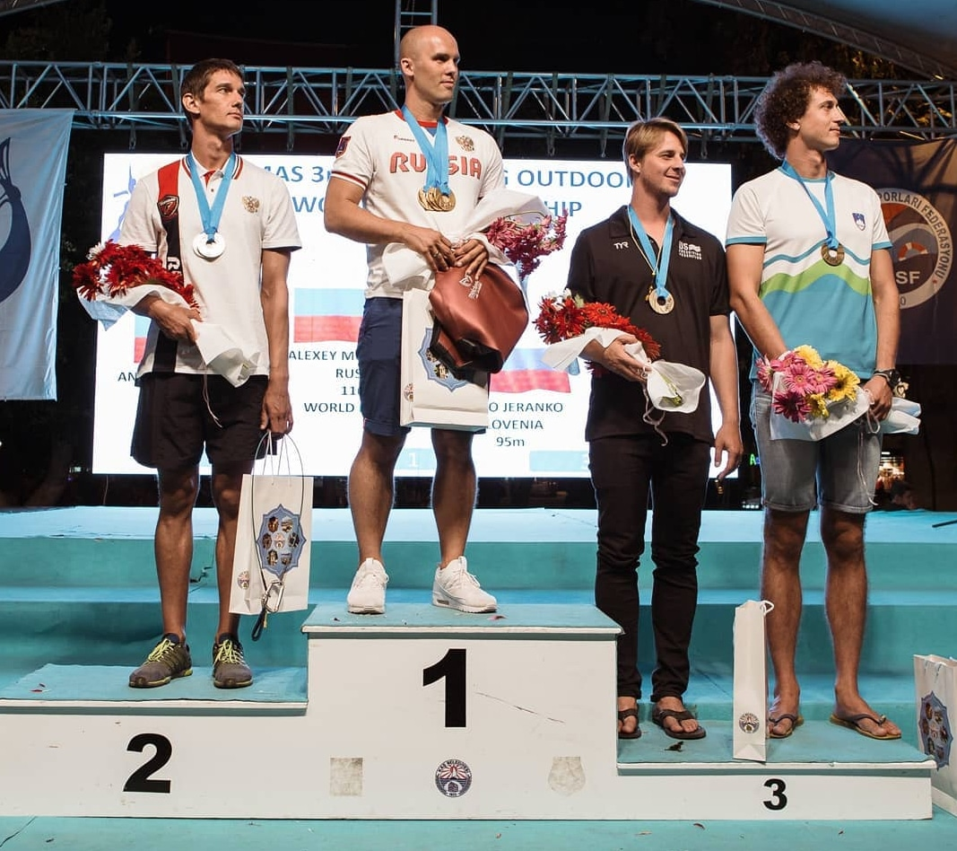 Russia's Alexey Molchanov takes home the Gold Medal (and a World Record) at the CMAS World Freediving Championships