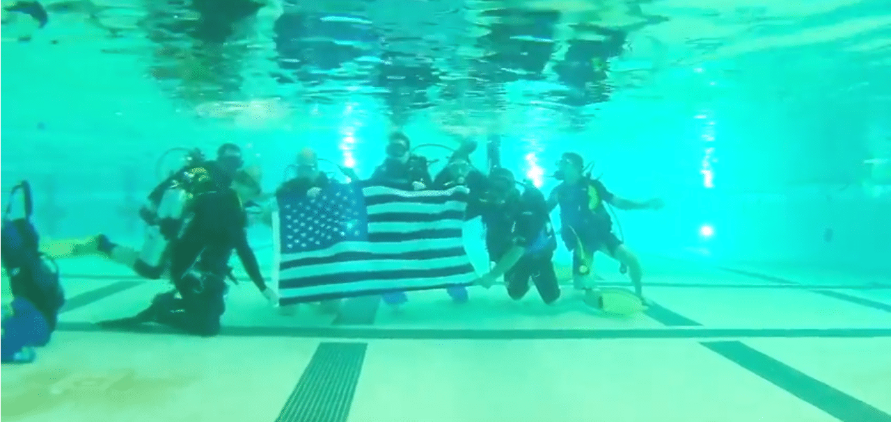 Neptune's Warriors underwater event
