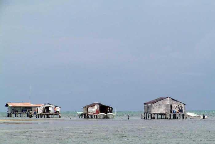 Fisherman's Stilt Homes at Banco Chinchorro Public Domain photo by Semarnat