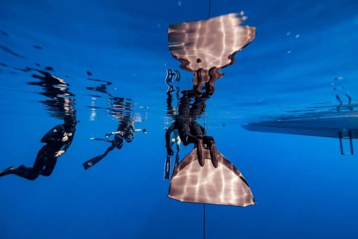 Reflections on freediving (photo by Daan Verhoeven)