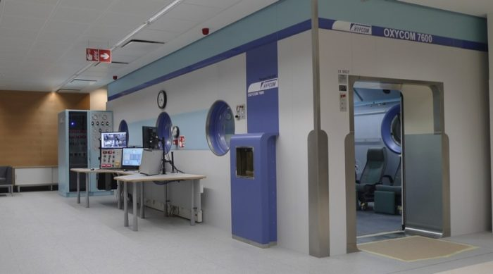 Hyperbaric chamber in Finland at Turku University