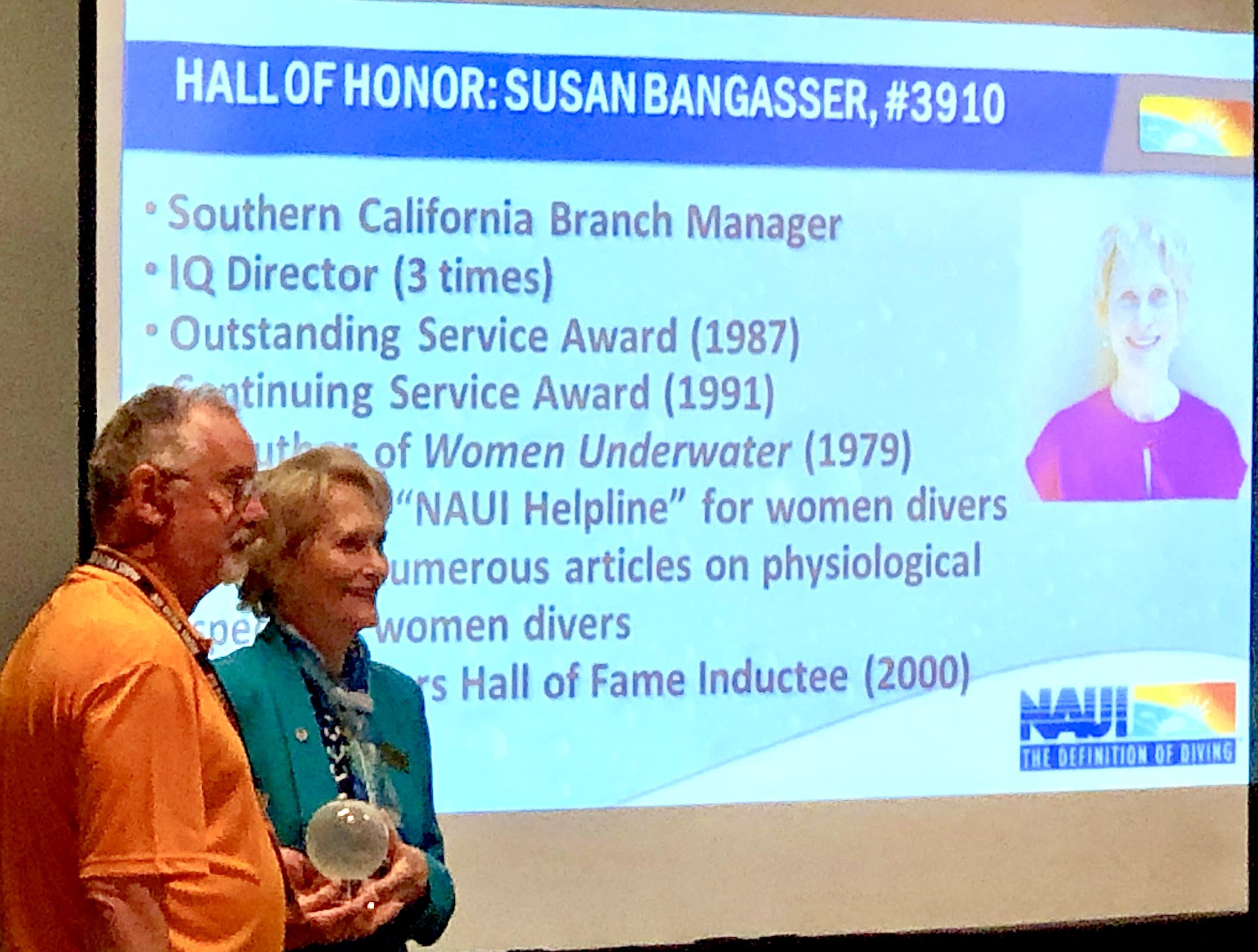 NAUI Awardee Susan Bangasser at DEMA Show 2018