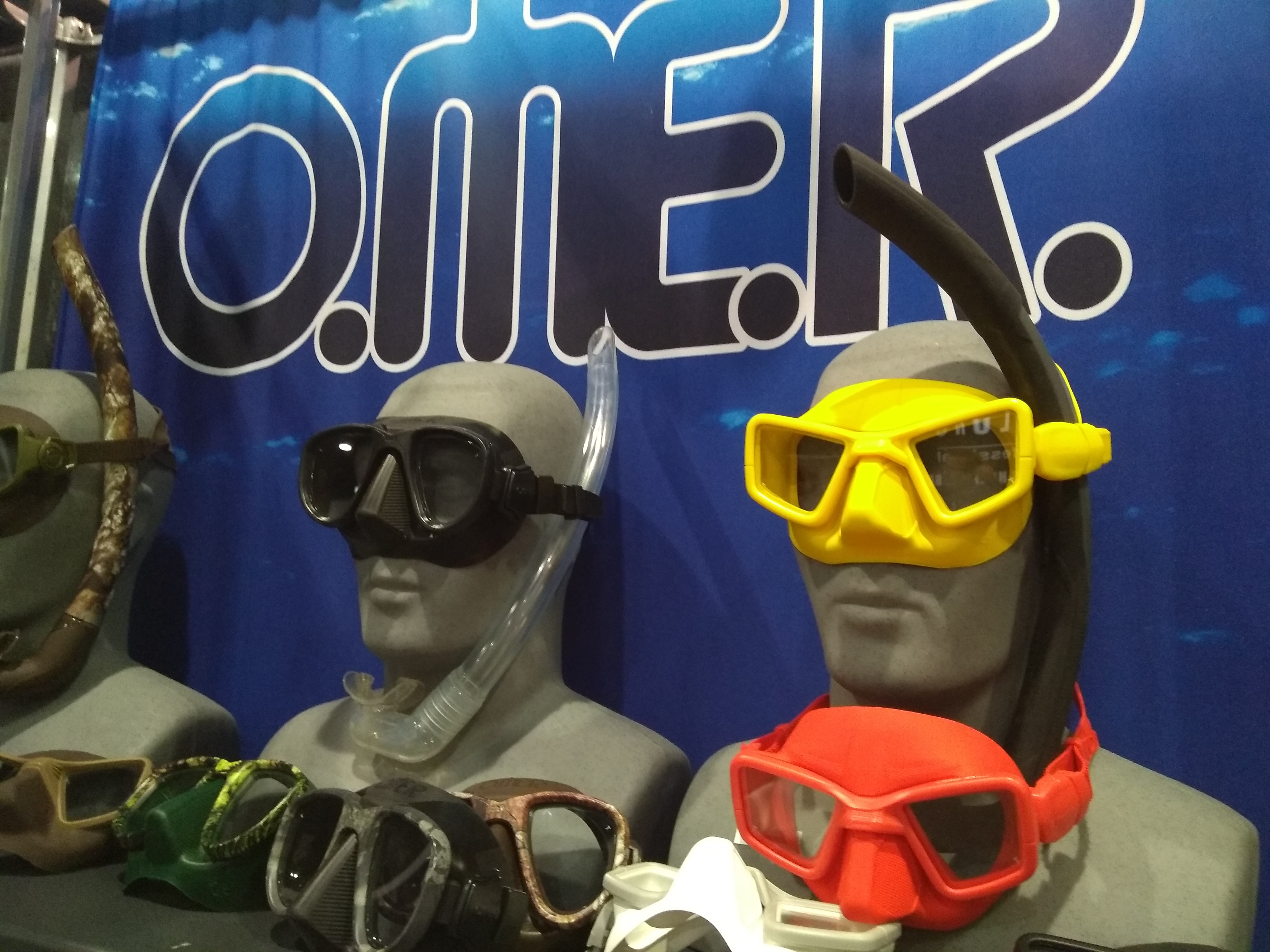 Omer's UP-M1 low-volume, freediving mask