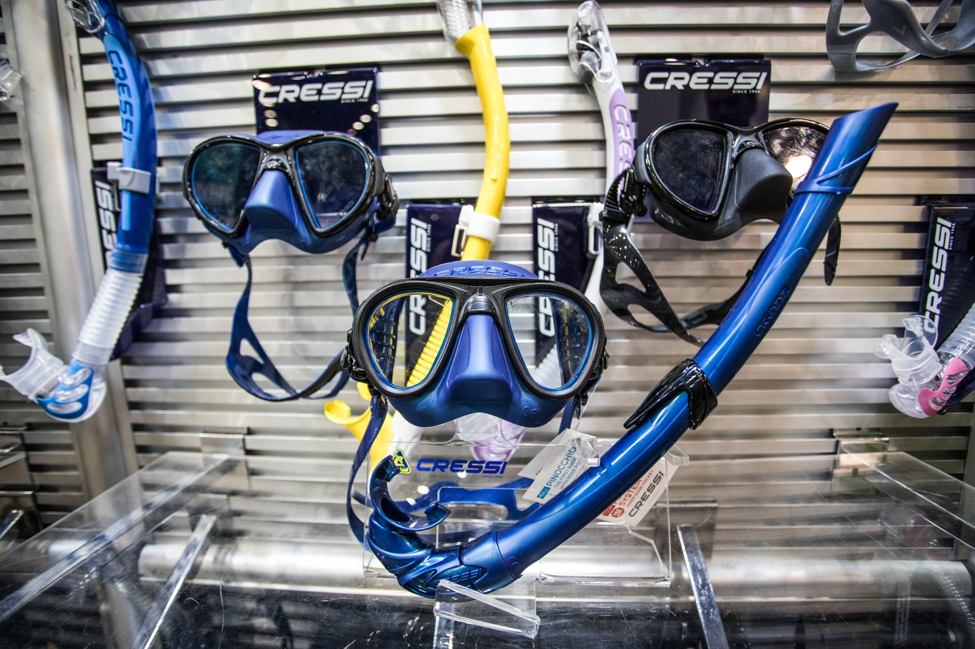"""The """"Zeus"""" mask in the upper left hand corner, features the fog stop technology (photo by Alex St. Jean)"""