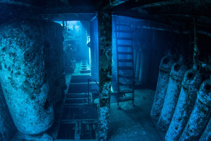 Inside the Liberty wreck