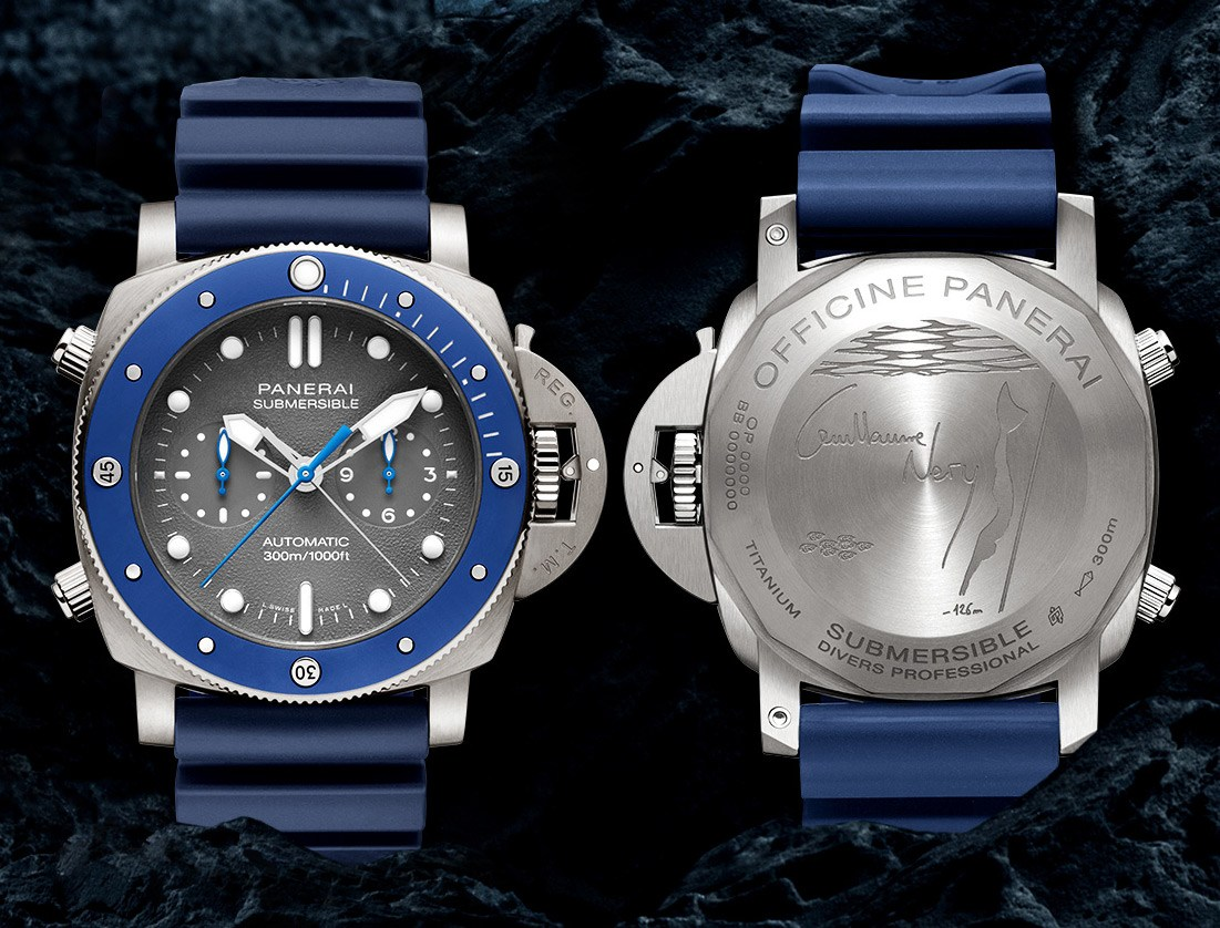 Panerai Luminor To Unveil Guillaume Nery Edition Of Submersible Chrono Watch