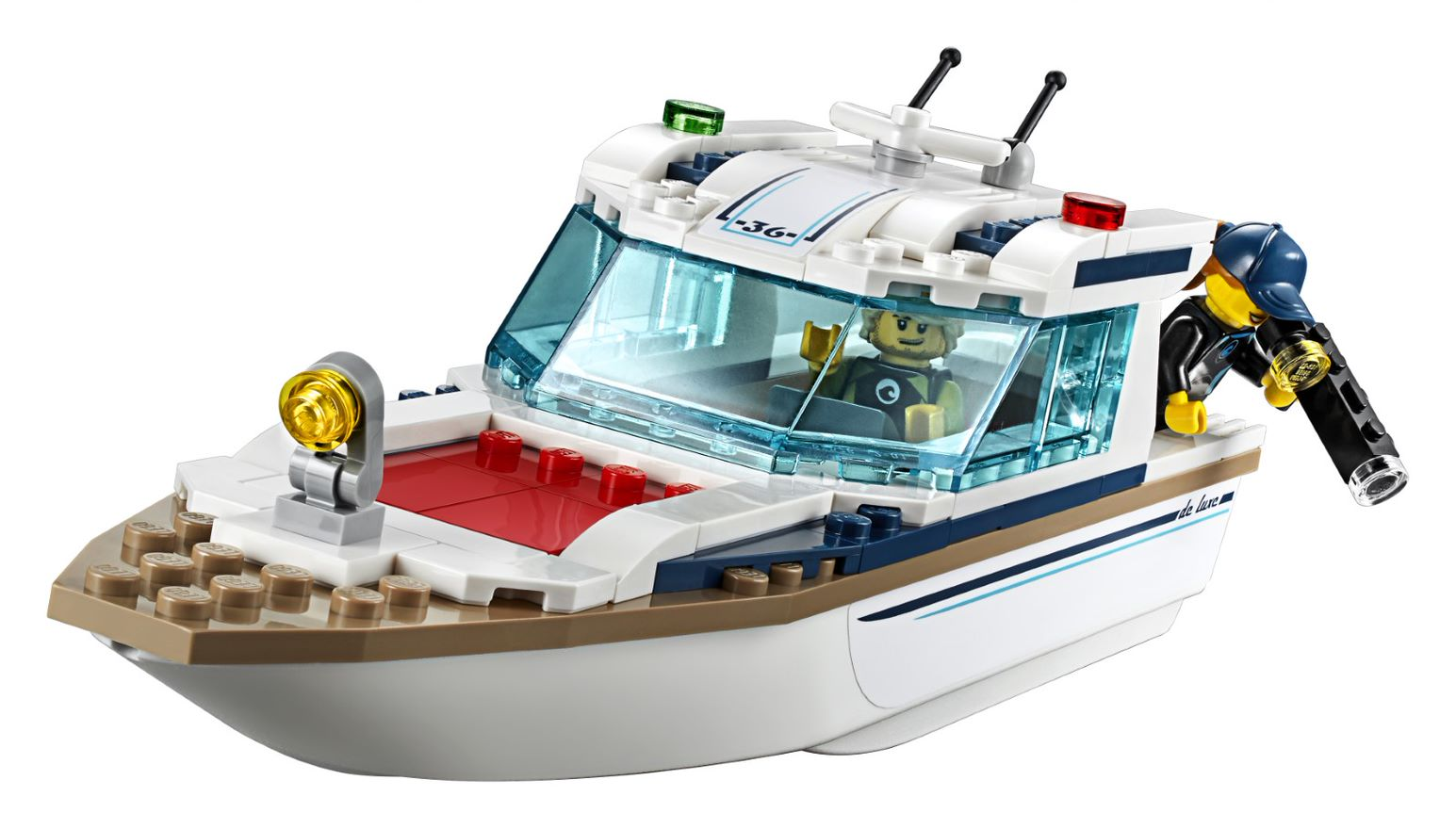 LEGO Diving Yacht with roof