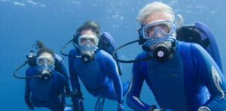 Jean-Michel, Fabien and Céline Cousteau