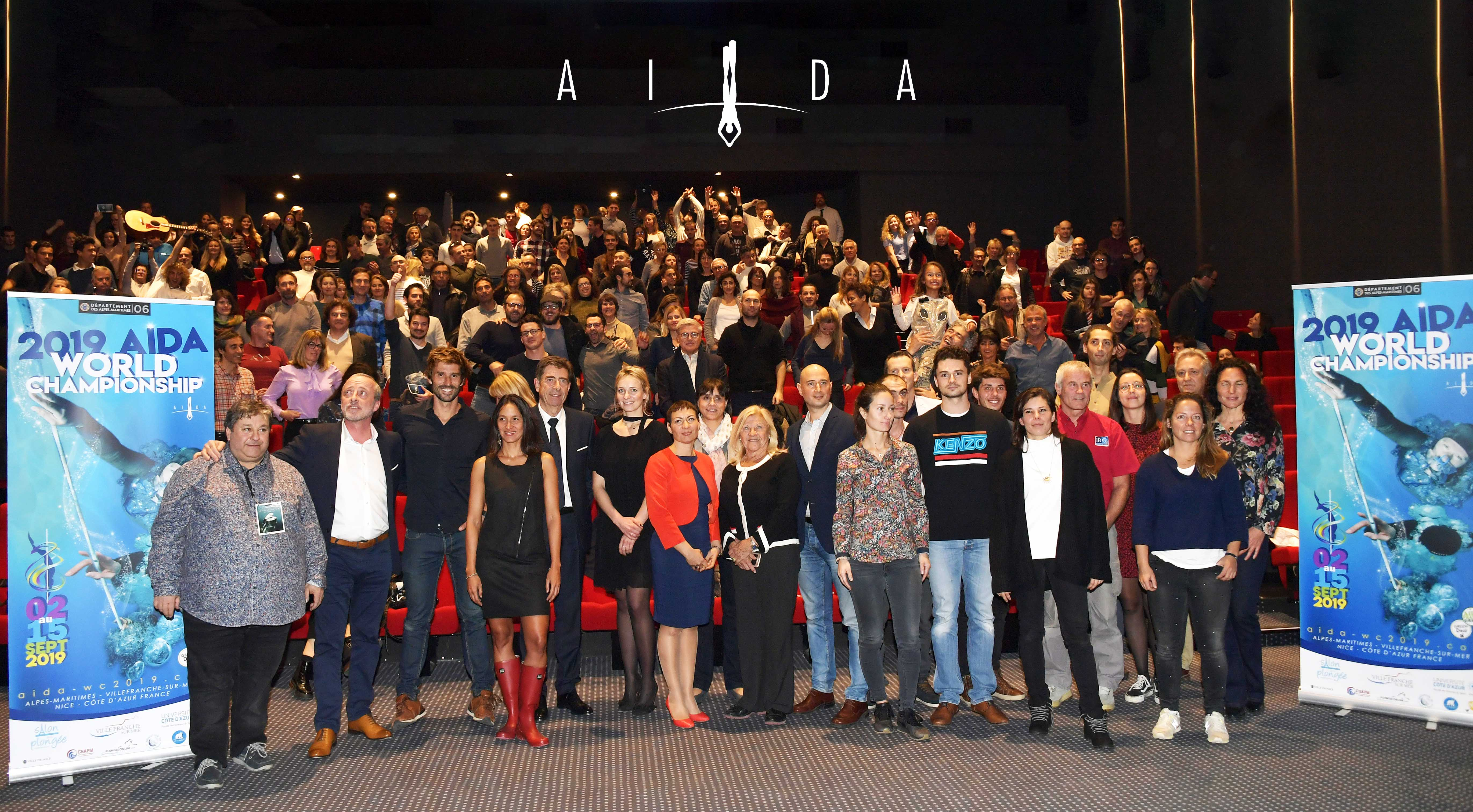 The launch event for the 2019 AIDA World Championships was attended by 300 people.