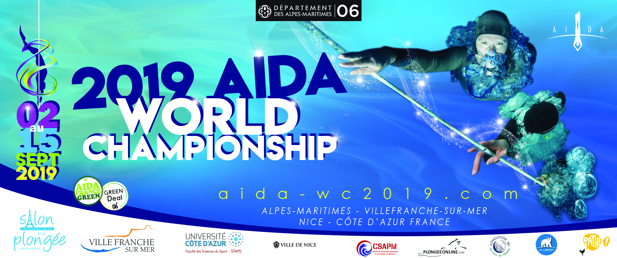 2019 AIDA World Championships To Be Held In France