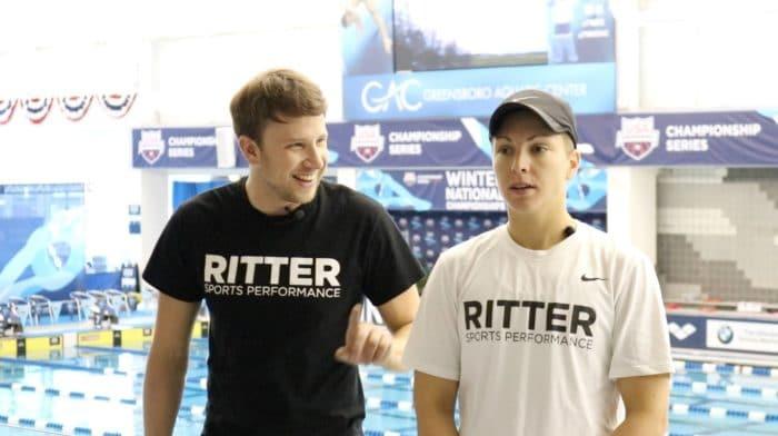 Chris Ritter, swim and strength coach & Abbie Fish, head technique coach at Ritter Sports Performance