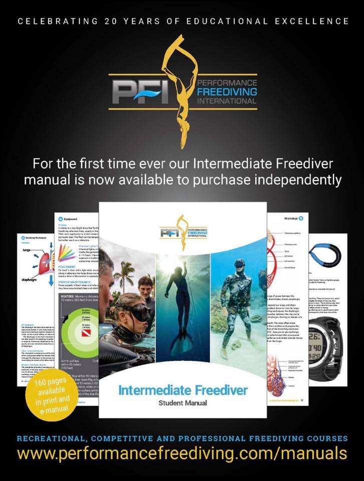PFI's Intermediate Freediving Manual Now Available For Purchase