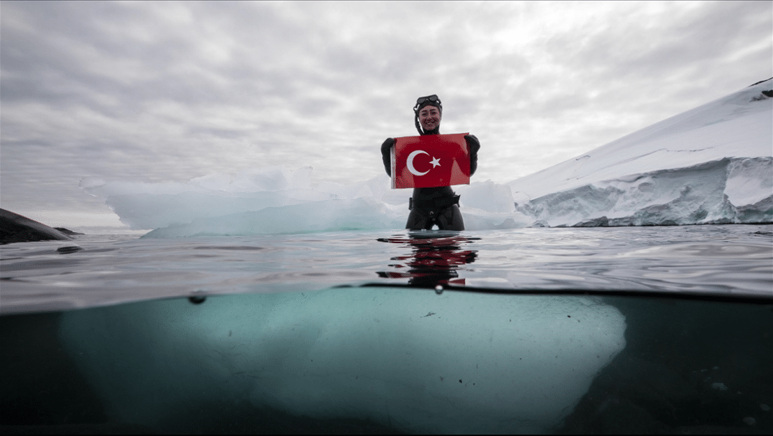 Turkish Freediver Sahika Ercumen Dives Antarctica