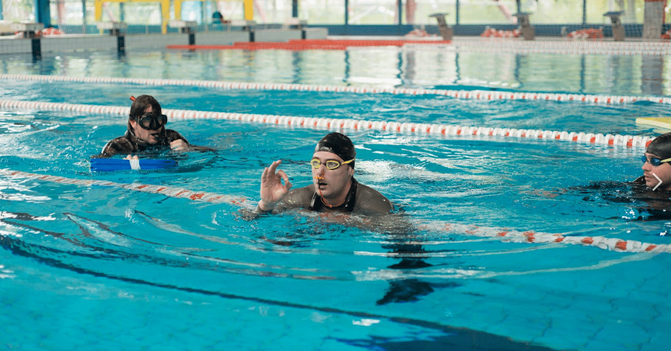 Vitomir Maricic at the Croatian CMAS National Pool Freediving Championship