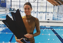 Croatia's Mirela Kardasevic set two CMAS World Records