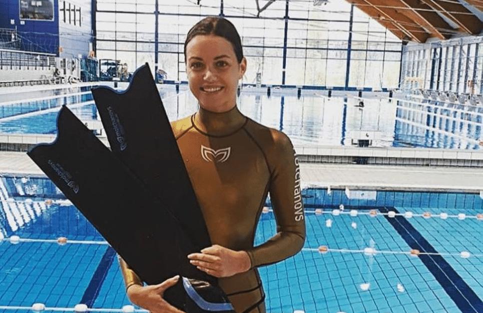 Croatia's Mirela Kardasevic set two CMAS World Records