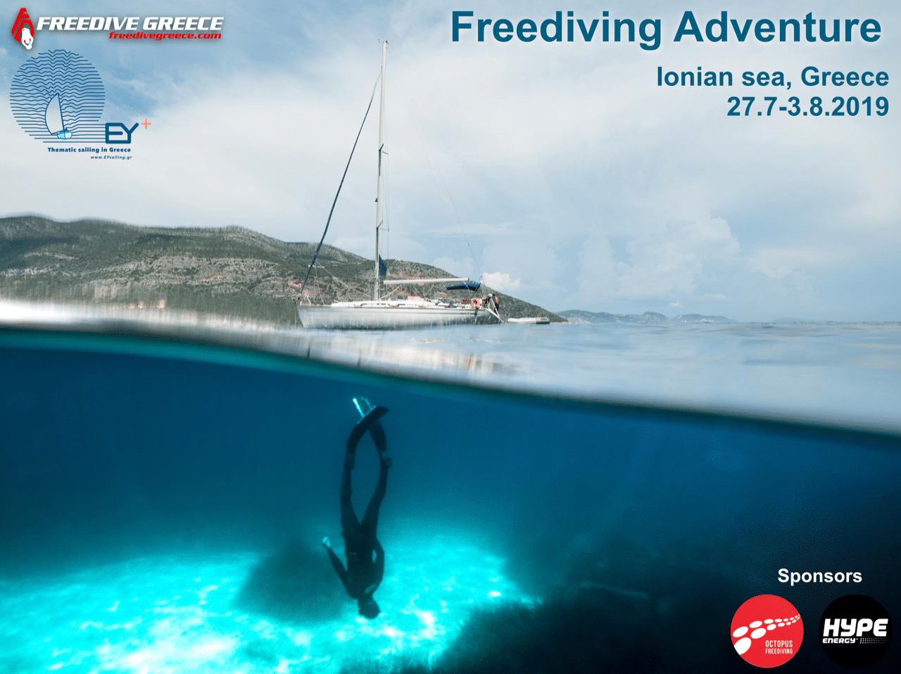 EYsailing and Freedive Greece are once again organizing a sailing trip this coming summer.