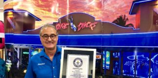 Arilton Pavan shows the 2018 Guinness World Record Certificate