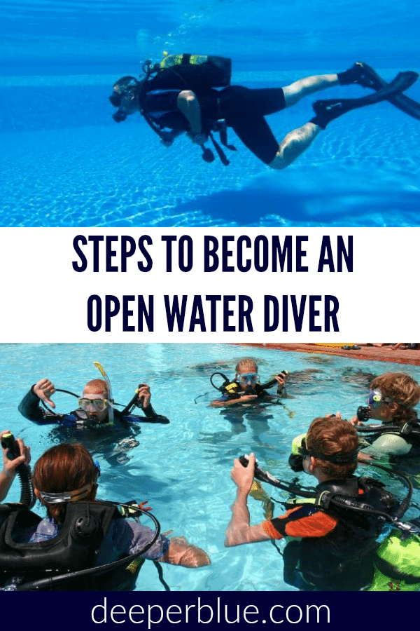 Steps To Become an Open Water Diver