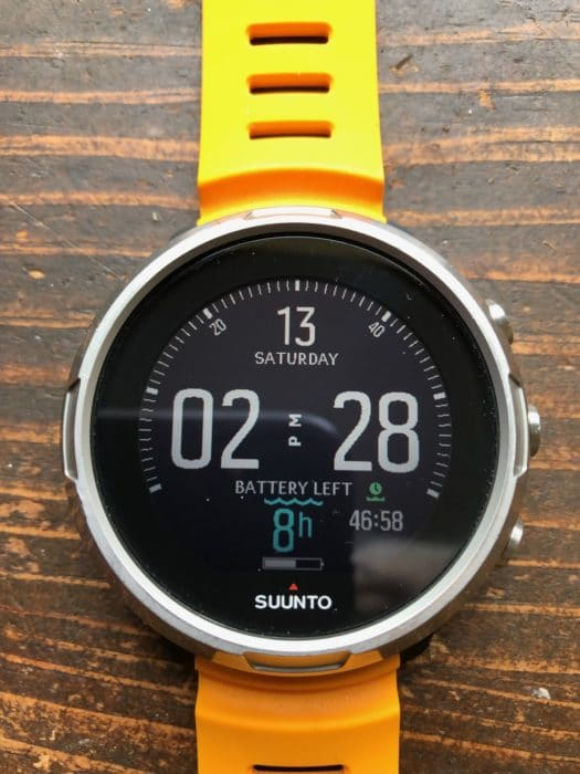 The suunto D5 has an amazingly bright LED watch face