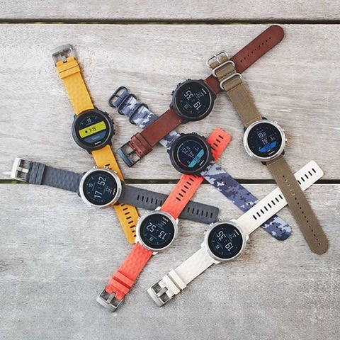 Suunto offers a number of colored wrist-straps to customize your look
